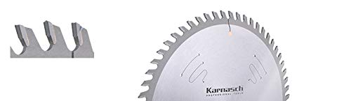 KARNASCH 111600200010 Kreissägeblätter aus Hartmetall, formatiert, Lochzahn, flache Abdeckung, positiv, 200 mm Durchmesser, 2,8/1,8 mm Dicke, 30 mm Aburrir, 48 HDF-P-Zähne