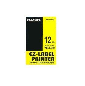 Beschriftungsband für Casio KL 60, Schwarz auf Gelb, 12 mm, Schriftband-Kassette für KL60, Farbband 12mm