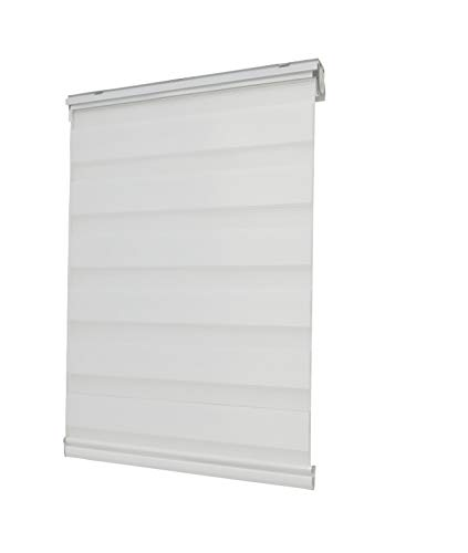 FixtureDisplays Window Blind Sheer Privacy Blinds Window Light Filter Pleated Fabric Shade White 16829-23.5 X 72-NF No