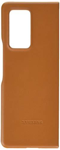 Samsung Leather Smartphone Cover EF-VF916 für Galaxy Z Fold2 5G Handy-Hülle, echtes Leder, Schutz Case, stoßfest, premium, braun