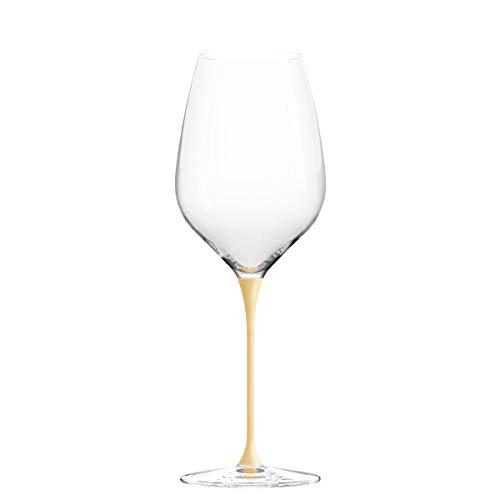 Copas de vino CHEER MODA con varilla de color, amarillo