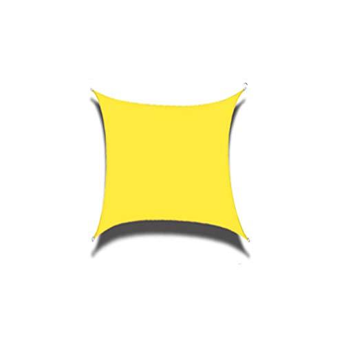 THJ Toldo de polietileno de alta densidad para exteriores, cuadrado, impermeable y resistente a los rayos UV (2 x 2 m, amarillo)