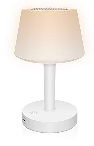 EVISTA Night Light Bluetooth Speaker Lamp - Touch Table Lamp for Bedroom Bluetooth Nightlight Speaker Dimmable Lighting + 7 Color Lights
