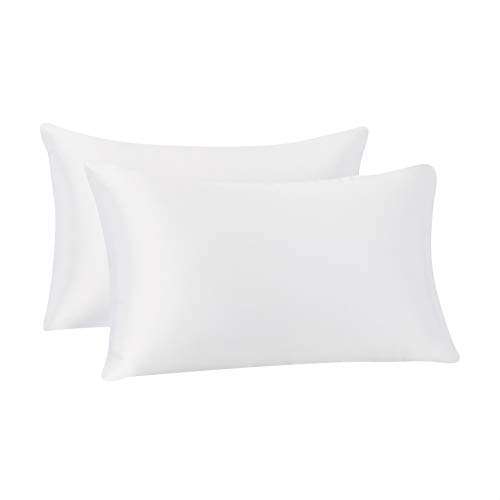 Soft /& Silky Sateen Weave Bed Pillow Cover White Standard Pillowcase Set of 2 800 Thread Count 100/% Egyptian Cotton Pillow Cases Long-Staple Combed Pure Natural 100/% Cotton Pillows for Sleeping