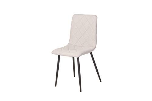 'N/A' Set of 4 Chairs DALLIA, 43x50x90 cm (Grey)