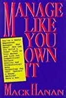 Manage Like You Own It 0814451128 Book Cover