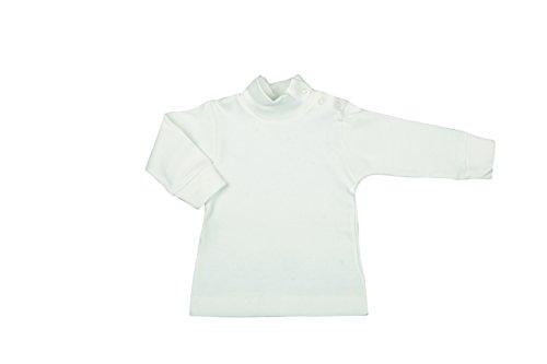 BabyVip - Body Polo Cuello Alto para niño y niña, Estilo básico, 100% algodón, algodón cálido, Ideal para el Invierno