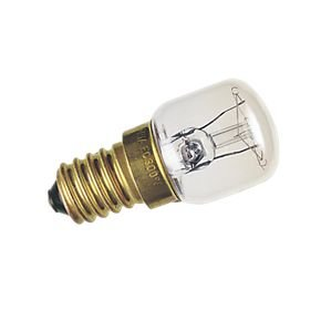 2 x Glühbirne 15 W SES E14 Nähmaschinengeräte, Kühl-/Gefrierschrank-Lampe.