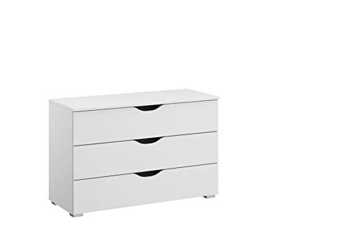 Rauch Möbel Alvara Kommode, Kommode mit Schubladen in Weiß und 3 Schubladen BxHxT 93 x 62 x 42 cm