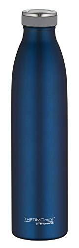 ThermoCafé Edelstahl Thermosflasche TC Bottle 750ml, Wasserflasche kohlensäurefest, Isolier-Trinkflasche Edelstahl blau, auslaufsicher, 4067.259.075, Thermoskanne 12 Stunden heiß, 24 Stunden kalt