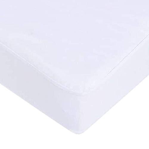 Protector de Colchón Ajustable - Cubre Colchón 100% Algodón – Impermeable, Transpirable y Antiácaros (105)
