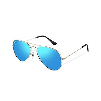 HELBEK ORVILLE   Gafas de Sol aviador. Ligeras y Resistentes - Protección UV400 + Lentes Polarizadas. a buen precio