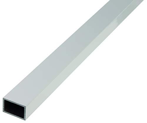 GAH-Alberts 471705 Rechteckrohr | Aluminium, silberfarbig eloxiert | 1000 x 50 x 20 mm