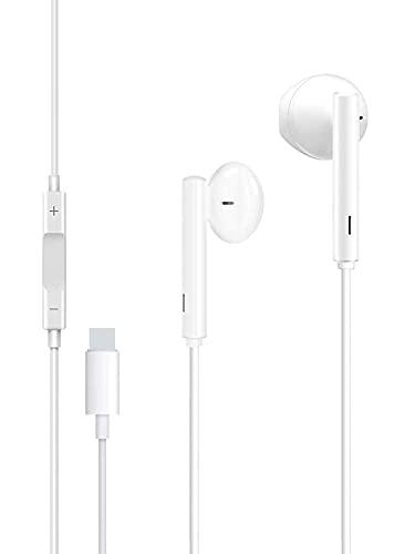HCX Auriculares Cascos para iPhone,In Ear Resistentes al Sudor,Cascos con Cancelación de Ruido,Auriculares con Micrófono y Control de Volumen Compatible Cascos de iPhone 7 8  Plus 11 12 Pro XR X XS XS
