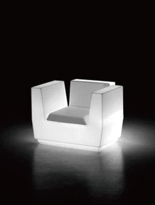 イタリア製デザイナーズファニチャー ビックカット・アームチェア ライト付き (高さ約73cm) ユーロ3 プラストコレクション EP-6279L Plust Collection Big Cut Armchair Light