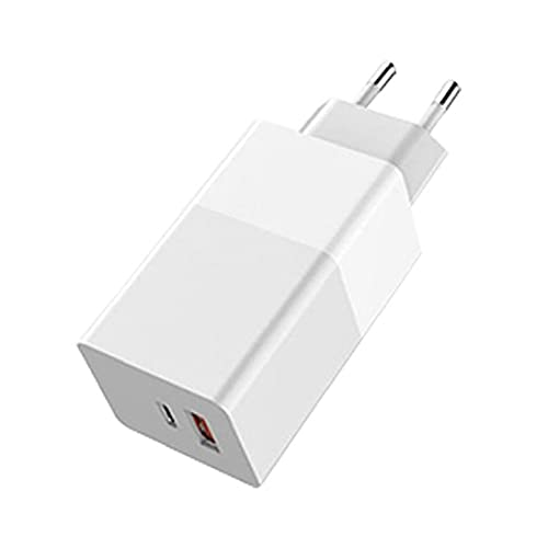 FeelMeet Fast USB Plug Cargador de teléfono 65W GAN Cargador de teléfono móvil Cargador portátil Multi usos Quik Carga para el Ordenador portátil teléfono Blanco