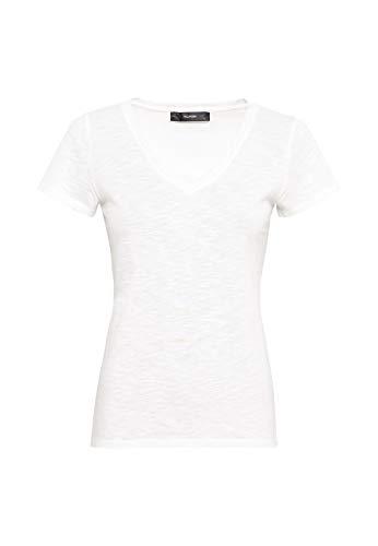 HALLHUBER T-Shirt mit V-Ausschnitt leicht tailliert Offwhite, M