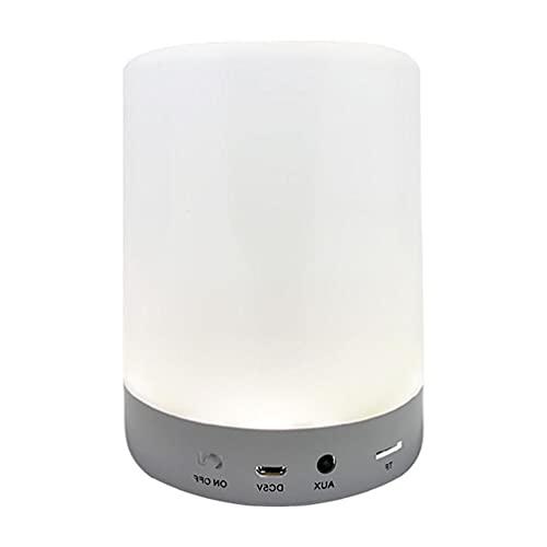 ZOUD Lautsprecher, Nachtlicht, Lautsprecher, MP3-Player, Touch-Steuerung, Nachttischlampe, dimmbar, mehrfarbig, mit Bluetooth-kompatibel, Touch-Steuerung
