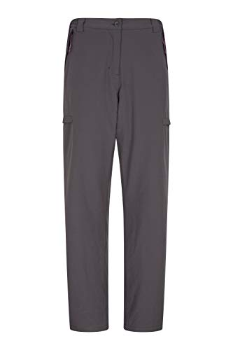 Mountain Warehouse Pantalones térmicos Arctic para Mujer - Cálidos con Forro Polar, de, elásticos, Muchos Bolsillos, Pretina Interior - para Acampar, Senderismo Gris Oscuro 34