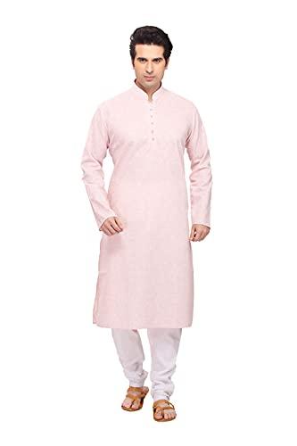 Indian Women Sarees Pijama Kurta de algodón rosa cómodo y relajante para hombre ICW3052-7-36
