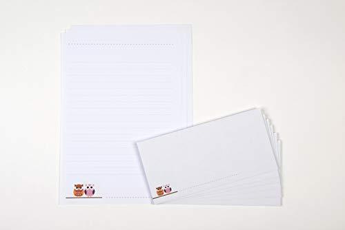 Zartbesaitet Briefpapier EULEN 20 Briefbögen (A4) + 10 Umschläge 74367012000