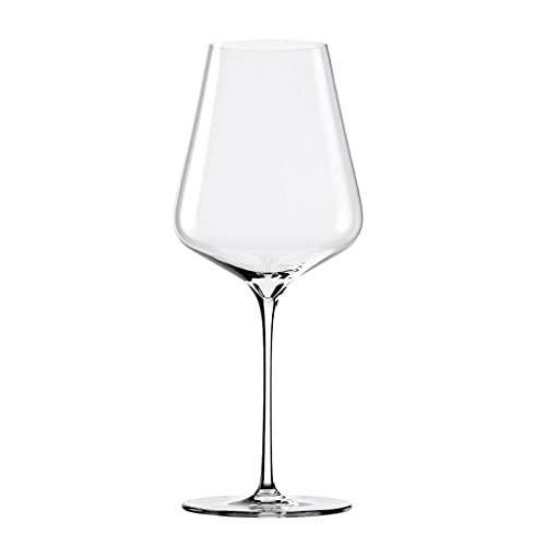 FEANG Copas de vino tinto – Copas de vino sopladas – Juego de 2 copas de vino de tallo largo, cristal premium – boda, aniversario, Navidad – copas de champán transparentes