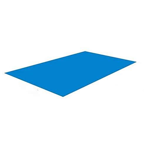DASINI Tapis de Sol pour Piscine,Tapis de Sol pour Piscine Rectangulaire Bleu Pliable Imperméable, Protecteur de Fond de Piscine, Postuler à Structures Gonflables et Pataugeoires - 295 * 206cm