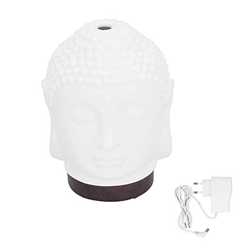 Umidificatore 100-200ml Diffusore di Aromi in Ceramica a Forma di Buddha con Luce Notturna per Cameretta per Adulti EU 100-240V