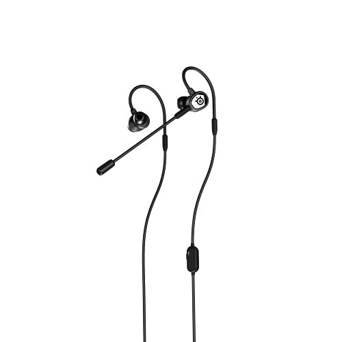 SteelSeries Tusq in-Ear Mobile Gaming Headset – Dual Microphone with Detachable Boom Mic – Ergonomic Suspension Design Earphones – for Mobile
