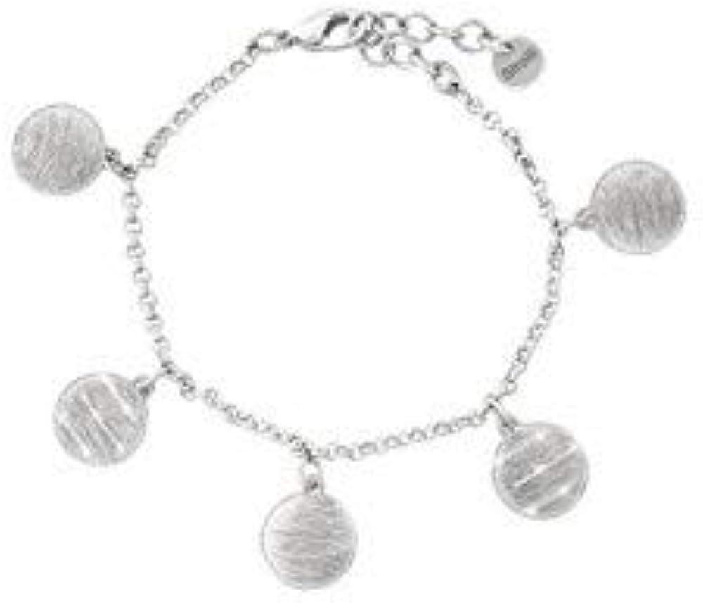 Stroili halley bracciale per donna in ottone rodiato e glitter 1654587