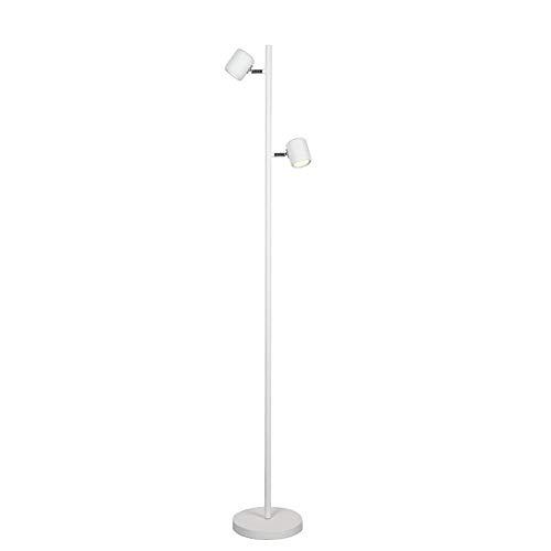 Lámpara de pie Lámpara de pie LED 9 W Control remoto, niveles de brillo ajustables, cabezal giratorio de 350 ° y giratorio Hermoso blanco 2 llamas Puede controlarse por separado