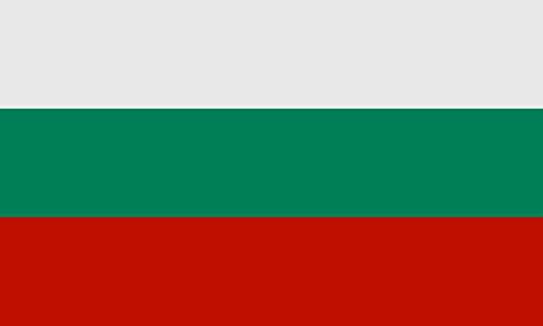 Queenshiny® Europa Länder Nationalflaggen Fahne/Flagge 90 x 150 cm (Bulgarien)