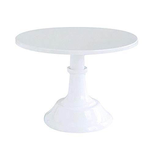 Platos llanos, Banquete de boda blanco del cumpleaños utensilios for hornear Decoración del hierro del metal soporte de la torta redonda de pedestal Postre titular de la magdalena estante de exhibició