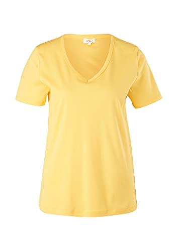 s.Oliver Damen 120.11.899.12.130.2060852 T-Shirt, Bright Yellow, 42