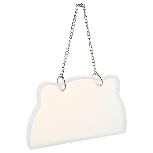 Exceart, 1 set fai da te per porta in silicone con catena in metallo, forma in resina epossidica, per appendere piastre, numero civico