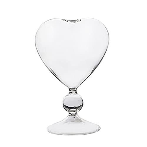 Frotox Copa de cóctel, Vaso Creativo en Forma de corazón, Juego de Bebidas Ideal para el hogar y el Restaurante, lavavajillas y microondas