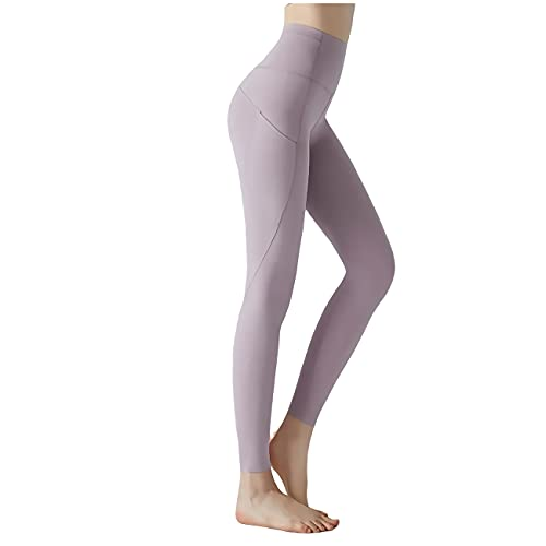 sdawa Leggings de Gimnasio sin Costuras para Mujer, Pantalones de Yoga con Control de Abdomen de Cintura Alta, Mallas para Correr con Bolsillos