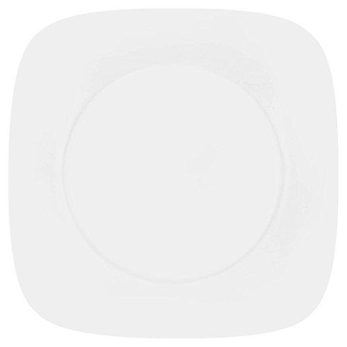 Corelle platte borden Pure van vitrelle-glas 26,5 cm, set van 6, wit