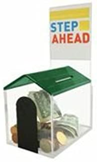 MCB Animal Dog House Charity Donation Collection Box with Display Sign Holder with Cam-Lock and 2 Keys (Green)