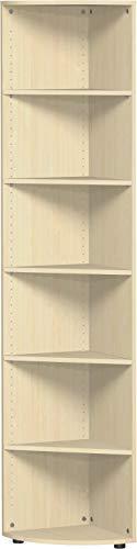 Gera Möbel S-346010-AH Eckabschlussregal Mailand 6 OH mit Standfüßen, 40 x 40 x 216 cm, ahorn