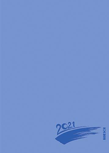 Foto-Malen-Basteln Bastelkalender A5 blau 2021: Fotokalender zum Selbstgestalten. Aufstellbarer do-it-yourself Kalender mit festem Fotokarton und edler Folienprägung