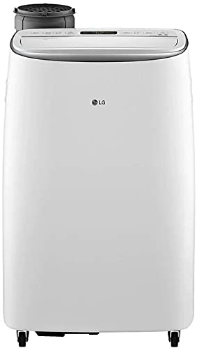LG LP1419IVSM Smart Dual Inverter aire acondicionado portátil con capacidad de enfriamiento de 14000 BTU, área de enfriamiento de 500 pies cuadrados, temporizador programable de encendido y apagado 24 horas, ventilación de aire automática, auto fresco, en blanco