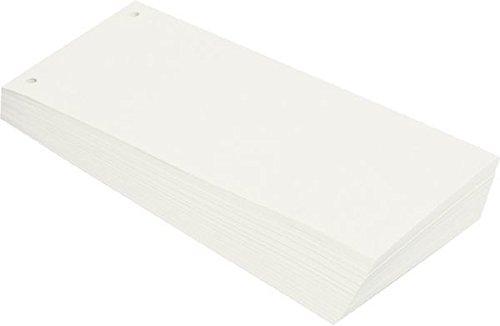Büroring BüroLine Trennstreifen weiss 10,5x24cm, 190g/qm Karton, gelo , 660577