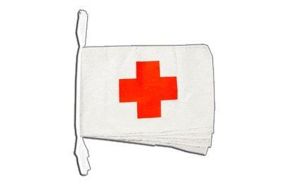 Digni Grande Guirlande 12 Drapeaux Croix Rouge - 30 x 45 cm / 8,9 m Sticker Gratuit