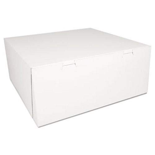 SCT Bakery Boxes, White, Paperboard, 14 x 14 x 6, 50/Carton