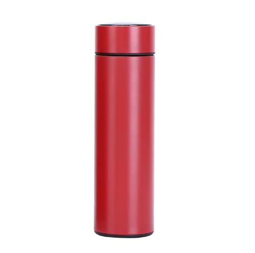 Kalami Botella isotérmica de 500 ml de acero inoxidable 304 con pantalla táctil LCD, indicador de temperatura inteligente, botella de sellado, ideal para calor y frío (rojo)