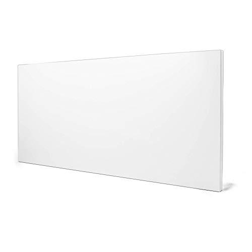 banjado Design Magnettafel weiß | Wandtafel magnetisch 37x78cm groß | Metall Pinnwand | Memoboard mit Magneten und Montageset