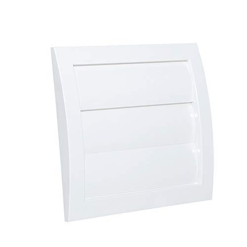 Rejilla de ventilación con láminas móviles tipo persiana. Plástico acrionitrilo butadieno estireno VCD, Blanco, Conexión Ø100mm.