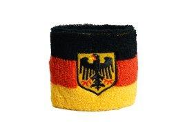 Flaggenfritze® Schweißband Deutschland mit Adler, 2er Set