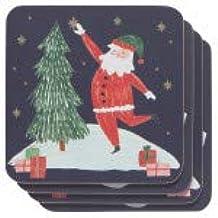 ND-Must Be Santa Coaster Set of 4